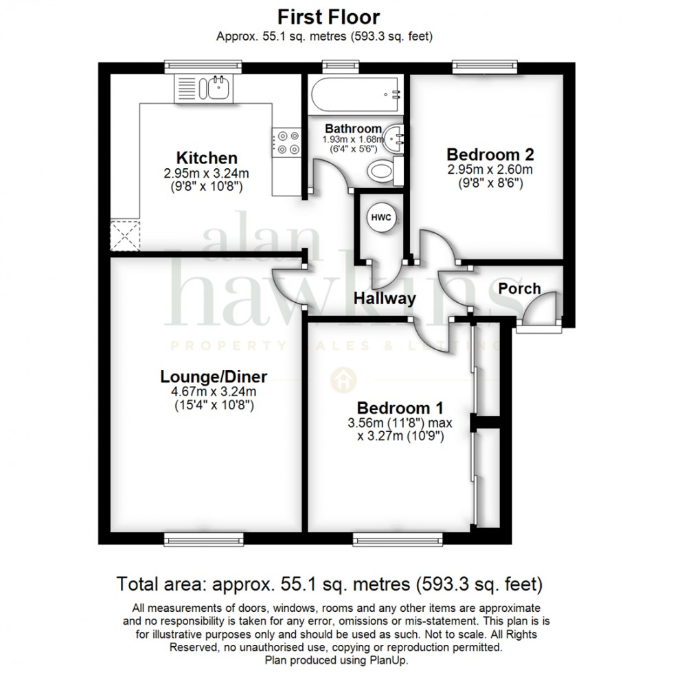 Floorplan for Kimmeridge Close, Swindon SN3 3