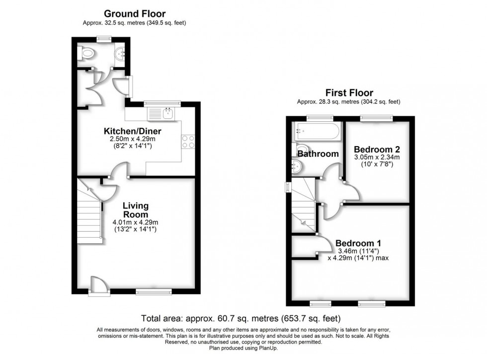 Floorplan for Carter Close, Abbey Fields, Swindon SN25 4